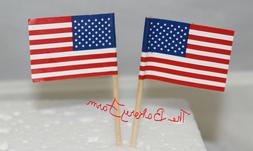 USA AMERICAN FLAG CUPCAKE PICKS TOPPERS CAKE SNACK PARTY PIC