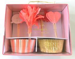 Meri Meri Valentine's Day Cupcake Baking Kit & Toppers