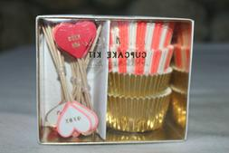 Meri Meri Valentines Day 48 Cupcake Cases and 24 Toppers