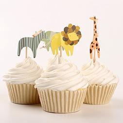 Value Pack- 24 Cupcake Toppers Picks- Various Themes