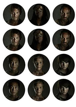Walking Dead Cast ~ Cupcake Topper ~ Edible Frosting Image