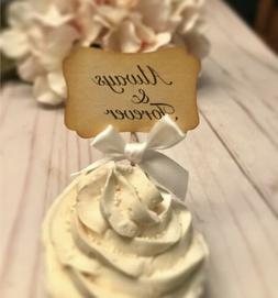 Wedding cupcake topper, vintage wedding cupcake toppers, vin