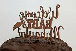 Welcome Baby cake topper, storke,  Birthday Topper, Cupcake