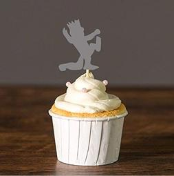 Where The Wild Things are Cupcake Toppers,Wild One Crown Foo
