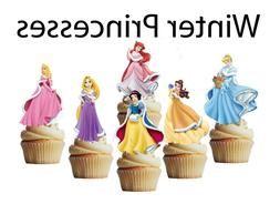 Winter princesses cupcake toppers,cakepop toppers, cupcake d