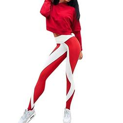 iMakCC HOT Sale Women Striped Geometry Yoga Pants Power Flex