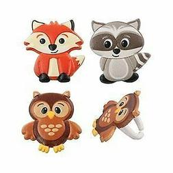 Woodland Animal Cupcake Toppers Friends Cupcake Rings by Bak