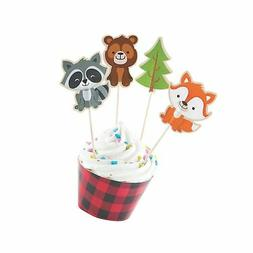 Fun Express Inc. Woodland Party Cupcake Wrappers & Picks - M
