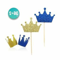 ALISSAR wxy Kapoklife 36-Pack Blue and Gold Crown Picks, Roy