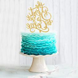 The Best is Yet to Come Acrylic Cake Topper for Wedding Anni