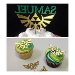 Zelda Crest Cake Topper and Cupcake Topper Set