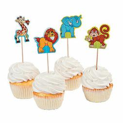 zoo adventure cupcake character picks party supplies